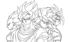 cool goku coloring pages printable for kids 6284 with shimosoku biz