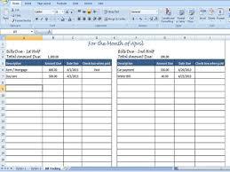 Monthly Bill Spreadsheet Template Best Photos Of Monthly Bill Template Excel Monthly Bill Log