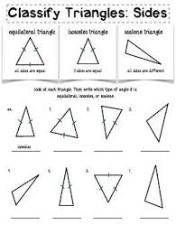 naming triangles worksheet the 25 best classifying triangles ideas on