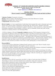 Cover Letter Volunteer Work Community Outreach Worker Cover Letter