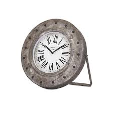 Decorative Clock La Crosse Technology Distressed Teal Metal Decorative Clock 404