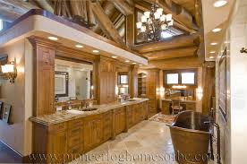 luxury log home interiors bedrooms and bathrooms log home and cabin interiors pioneer