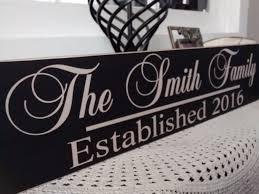 wedding gift signs family established sign last name established sign