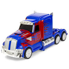 model semi trucks best choice products 27mhz transforming rc semi truck robot remote con