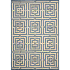 3x5 Outdoor Rug Safavieh Courtyard Collection Cy6937 23 Blue And Bone