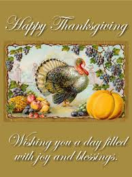 a joyful happy thanksgiving card birthday