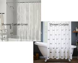 shower curtain liner vs shower curtain homeverity com so a shower curtain liner is what you are looking for if you simply want to keep the floor dry as you bath if you need some extra covering