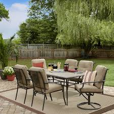 Patio Furniture 7 Piece Dining Set - garden oasis brookston 7 piece dining set stone shop your way