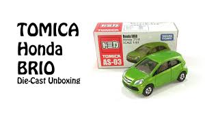 honda brio small car for tomica as 03 honda brio unboxing diecast toy car green youtube