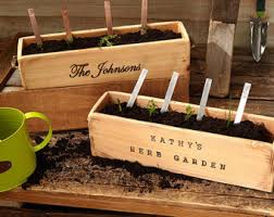 herb garden planter rustic wood planter box herb garden