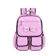 light pink leather backpack fashion schoolbag cute backpack orthopedic bags