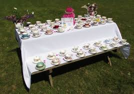 10 vintage tea cups and saucers for tea party wedding baby