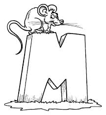 letter mouse coloring download u0026 print