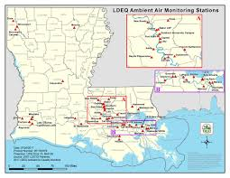 City Park New Orleans Map Ambient Air Monitoring Program Louisiana Department Of