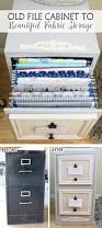 Drawer Filing Cabinet 2 Drawer File Cabinet Makeover For Fabric Storage You Ve
