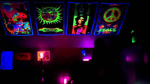 Lights Room Decor by Black Light Room Youtube
