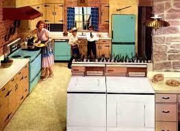 brief history of the kitchen from the 1950s to 1960s apartment
