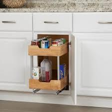 glidez wood 2 tier sliding cabinet organizer 11 5 inch wide