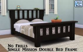 No Bed Frame No Frills Single Mission Bed Frame With Slots Sims 4 Studio