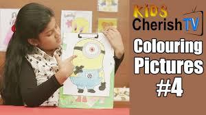colour minion colouring pictures 4 kids cherish tv