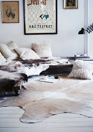 Real Cowhide Rug Mixing Furs Homeworewhat Pinterest Cow Pillows And Interiors
