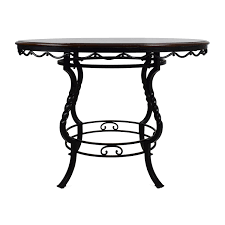 OFF Ashley Furniture Ashley Nola Round Dining Table  Tables - Ashley furniture dining table black