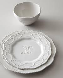 12 monogrammed dinnerware service