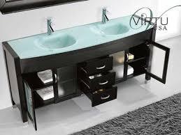Bathroom Vanities With Glass Tops 60 Beautiful Bathroom Vanities With Glass Doors Paperblog