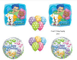 amazon com bubble guppies 14 piece birthday party balloons