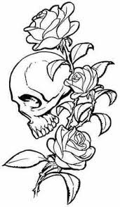 image detail for skull and roses tattoo design by