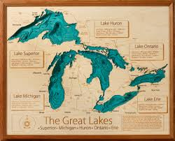 Map Of Michigan Lakes by Topographic Map Of Lake Michigan Michigan Map