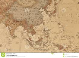 Asia Geography Map by Ancient Geographic Map Of Asia Stock Photo Image 54358717