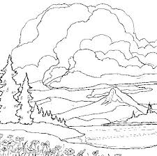 coloring pages for landscapes mountain coloring pages landscape color pages mountain coloring