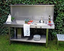 aussenküche edelstahl die outdoorküche genussvoll draußen kochen schöner wohnen