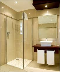 bathroom rain shower ideas small glass sliding doors beige tile