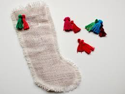 Homemade Christmas Stockings by How To Make A Burlap Christmas Stocking How Tos Diy
