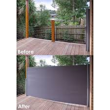 find pillar products 2 x 3m charcoal retractable patio screen at