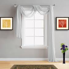 Light Silver Curtains Warm Home Designs Silver Sheer Curtains Silver Window Scarf