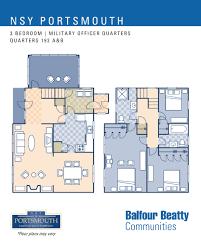 nsy portsmouth u2013 military officers housing 3 bedroom floor plan