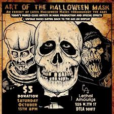 vintage masks blood curdling of masks