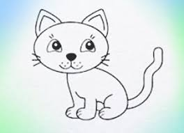 coloring fancy drawing kitten draw cat coloring