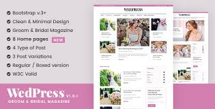 bridal websites bridal templates from themeforest