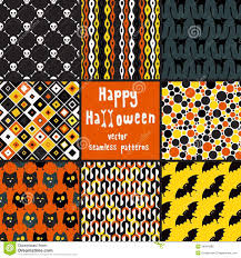 free halloween download collection of halloween seamless patterns royalty free stock