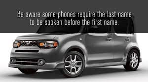 2014 nissan cube bluetooth hands free phone system operating