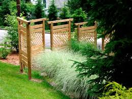 nice landscaping ideas for privacy build a privacy wall with fence