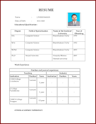 Resume For Teachers Job Application by Simple Biodata Format For Job Simple Biodata Format What Is Bio