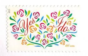 la poste timbre mariage inutilisé mariage coeur timbres 66 oui faire florale