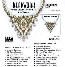 crystal necklace patterns images Pearl drop crystal 39 v 39 necklace rypan designs downloadable patterns jpg