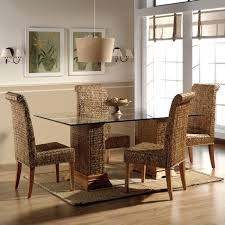 Pottery Barn Seagrass Chair by Furniture Modern Rectangular Dining Table With Glass Top Under