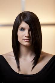 mid length hair cuts longer in front long asymmetrical bob no layers in the front my bangs are a